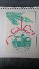 VTG Happy Holidays Card The International Tennis Hall Of Fame '89 Newport Casino