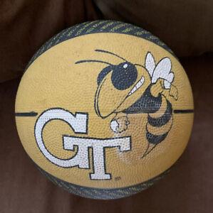 Georgia Tech Yellow Jackets GT Basketball Ball Official Rubber Street Black Gold
