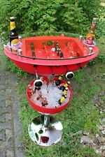 Kicker Bartisch mit Behälter zum Getränke kühlen und Standplatz für 2 Flaschen