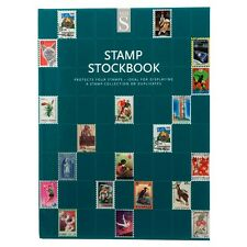 WHSmith Hardback Stamp Stockbook Case Bound Spine With 8 Double Sided Leaves