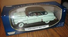 1950 Chevy Bel Air Car & Display Stand GREEN 1:18 Motor Max Die Cast Collection