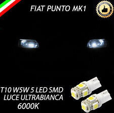 COPPIA LUCI POSIZIONE 5 LED FIAT PUNTO MK1 T10 W5W ULTRABIANCHE