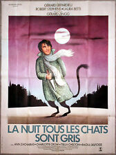 LA NUIT TOUS LES CHATS SONT GRIS Laura Betti GERARD DEPARDIEU 120x160cm
