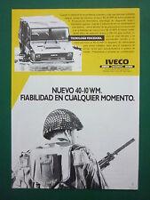 1/86 PUB IVECO FIAT MAGIRUS VEHICULE TOUT TERRAIN 40-10 WM AMPHIBIE SPANISH AD