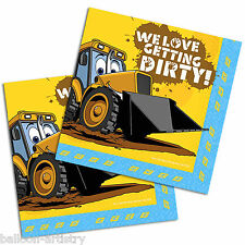 16 My 1st JCB Digger Birthday Party 33cm Disposable Paper Napkins