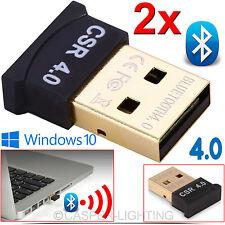 USB Chiavetta Adattatore Bluetooth v4.0 EDR CSR PC Windows 10 8 7 ALTOPARLANTI Cuffie