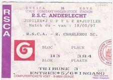 Football Ticket>RSC ANDERLECHT v R.CHARLEROI SC May 1997
