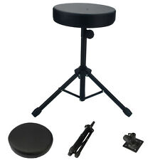 Drum Throne Stool Drummers Seat Percussion Hardware Drumming Black Padded Chair