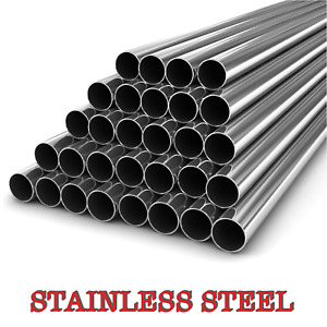 Stainless Steel Round Tube  Pipe -VARIOUS SIZES- 304 GRADE - 1 METER LONG