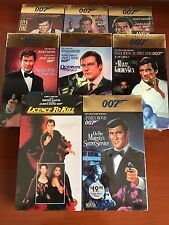 Eight NEW James Bond 007 VHS Movies Roger Moore Classics, Timothy Dalton