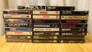 Cassette Tape Lot - 50X - 80s Hair Metal  - Rock - Dokken - Ratt - Van Halen -