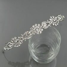 Wedding Headband Clear Austrian Crystal Rhinestone Tiara Crown Bridal Party 9907