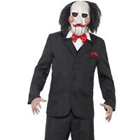 Halloween Fancy Dress Licensed Mens Saw Jigsaw Puppet Costume New by Smiffys