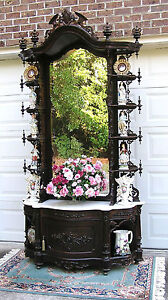 AWESOME  VICTORIAN ROSEWOOD  ALEXANDER ROUX ETAGERE