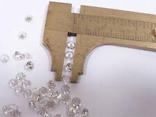 Genuine NATURAL ZIRCON Round White 3.5mm each ( 4 stones) F4