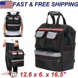 Tool Bag Storage Backpack Electricians Maintain Portable Tool Bags Black