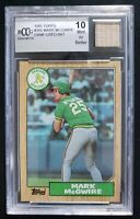 Mark McGwire 1987 Topps with Game Used Bat Beckett 10 BCCG