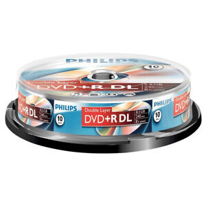 10er Spindel Philips DVD+R Double Layer 8,5 GB Rohlinge 240 Minuten 8x Speed