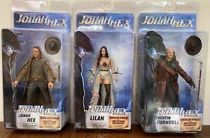"Jonah Hex-Lilah-Quentin Turnbull 7"" DC Comics Neca Action Figures 2010 Lot"