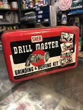Sher Drill Master Grinding & Buffing Kit Empty Vintage Tool Tin