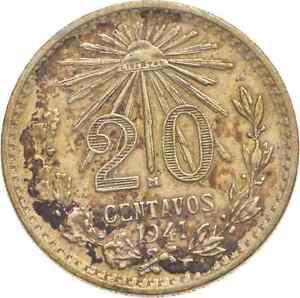 Better - 1941 Mexico 20 Centavos - TC *919