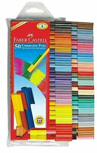 Faber Castell Connector Sketch Pen Set of 50 Colour Colourful TexTas Marker ||FS