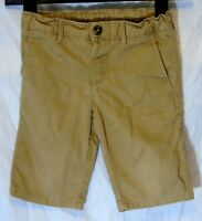 Boys M&S Tan Brown Chino Denim Adjustable Waist Board Shorts Age 4-5 Years