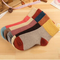 1 pair Women Vintage Girl Fall Winter Warm Rabbit Wool Thick Cotton Ankle Socks