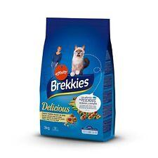 Brekkies Pienso para Gatos Delicious con una Selección de Pescado - 3000 (3 kg)