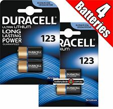 4 Duracell Ultra Lithium CR123 3V Camera Photo Battery CR123A EL123 CR17345
