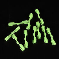 10x Fishing Rod Pole Tip Clip Night Float Dark Glow Sticks Clip Lightstick