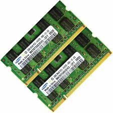 SAMSUNG 4GB 2x2GB DDR2 800 MHZ PC2 6400 6400S Laptop SODIMM Memory RAM 200-pin