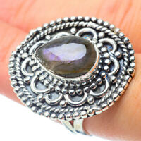 Large Labradorite 925 Sterling Silver Ring Size 8.5 Ana Co Jewelry R30774F