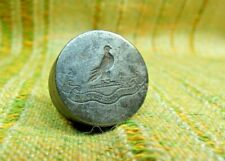 "Antique 19th Century Nobility Eagle "" HABABIS QUOD CONTRAXIS"" Wax Seal Stamp Die"