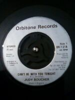 """Judy Boucher – Can't Be With You Tonight Vinyl 7"""" Single UK OR 7 21 1986"""