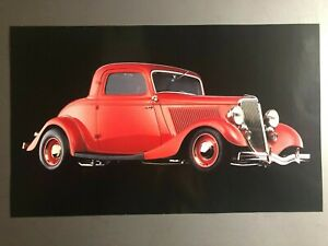 1934 3-Window Coupe Street Rod Print, Picture, Poster RARE Awesome L@@K