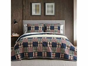 Eddie Bauer Home Madrona Collection Bedding Set Cotton Quilt Bedspread Twin Red
