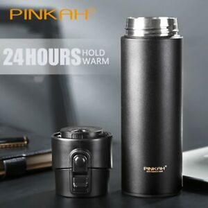 New Thermos Bottle With Tea Filter Vacuum Flask Sealed Leakproof Stainless Steel