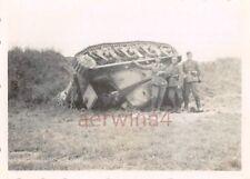 Franz. Panzer HOTCHKISS mit Einschußlöcher Metz Frankreich