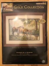 Dimensions Gold Collection Horses by a Stream Counted Cross Stitch Kit 16x11
