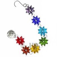 Chakra Crystal Suncatcher Handmade Prisms Pendant Wedding Decor Healing Gift