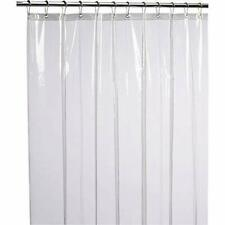 LiBa Mildew Resistant Antimicrobial Peva 8G Shower Curtain Liner, 72x72, Clear
