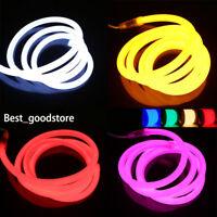 1M-50M 360 Degree Glow Flex Round LED Neon Rope Light Strip 220V 2835 waterproof