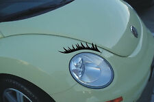 CAR HEADLIGHT EYELASHES CAR GIRLY STICKERS DECALS FUNNY GIRL GRAPHICS EYEBROWS