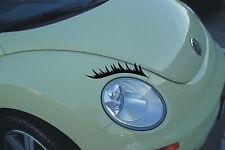 Pestañas faros de coche coche Girly Pegatinas Calcomanías Gráficos Cejas Gracioso Girl