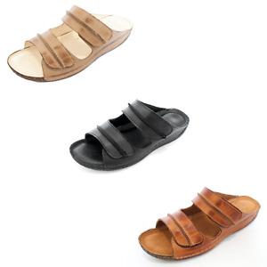 KS406 Damen Schuhe Sandalen Pantoletten aus Leder für den Sommer Sommerschuhe