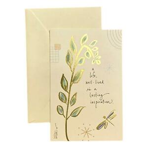 Sympathy Greeting Card for Loved Ones, Family and Friends - A life, well-lived i