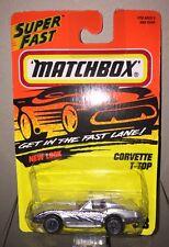 Matchbox Super Fast Action  System Corvette T Top #58 Silver 1:64