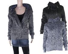 Cardigan Strickjacke Damenjacke Jacke Kaputzenjacke Übergangsjacke NEU Farbwahl
