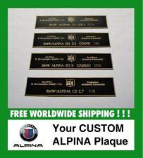 BMW Alpina Dash Plate Plaque B3S B5 B6 B8 B10 E36 E38 E39 E46 Coupe Cabrio